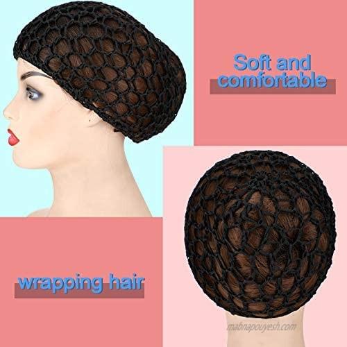 Cindeer 6 Pieces Mesh Hair Net Women Crocheted Hairnet for Women