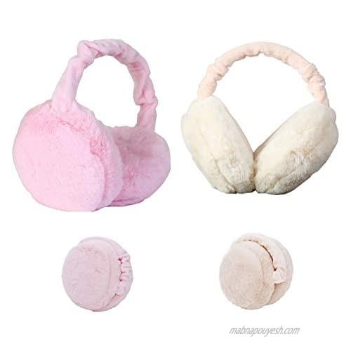 Earmuffs Headband Cute Plush Fluffy Furry Soft Warm Ear Warmers Band