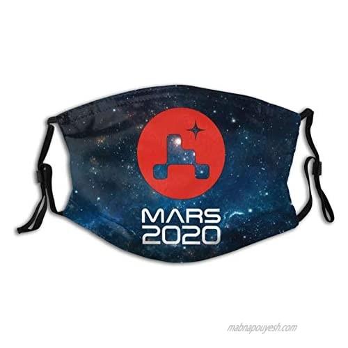 NASA Mars 2020 Perseverance Rover Reusable Face Ma-sk Funny Balaclava Adjustable Face Cover Washable Mouth Shield Black