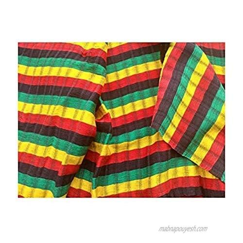 Short Headwrap Scarf Hair Tie Turban Fabric Hand Woven Breathable GauzeReggae