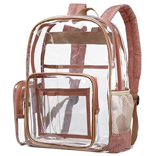 Clear Backpack  Cambond Heavy Duty Transparent Backpack with Reinforced Straps  See Through School Bag for College  Adults