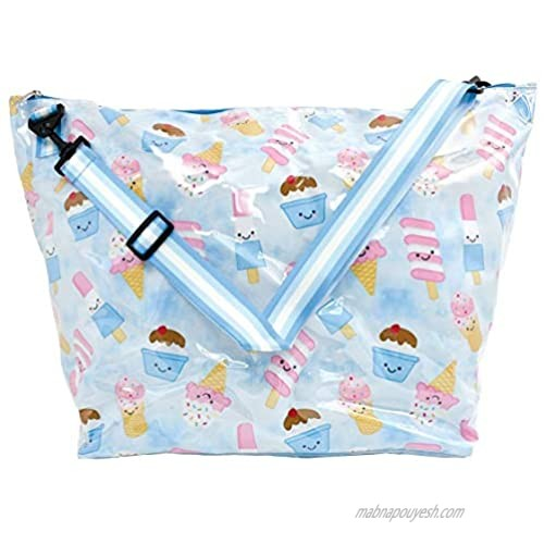 """iscream 'Ice Cream Cuties' Weekender 23.5"""" x 16"""" x 9"""" Travel Tote Bag with Adjustable Strap"""