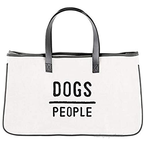 Large Canvas Tote Bag for Women  Dogs Over People  Cotton Purse for Travel  20 x 11 Inch