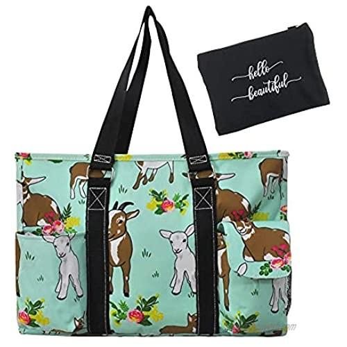 NGIL All Purpose Organizer Medium Utility Tote Bag & EGFAS Cosmetic Bag Bundle