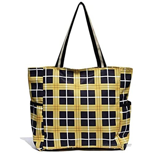VAVAER Gym Tote Bag Large Beach Bags Water Resistant Totes for Women Lightweight Travel Tote Bag with Zipper
