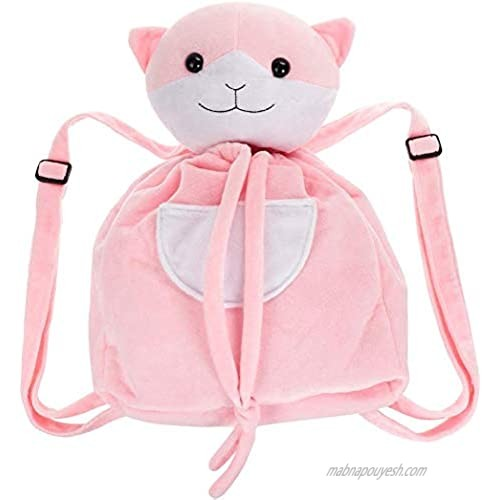 Anime Cosplay Cute Cat Backpack Made of Plush  Pink