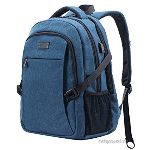 ANKUER Travel Laptop Backpack  Anti Theft Backpack with USB Charging Port  Fit 15.6 Inch Laptop Bookbag (Blue)