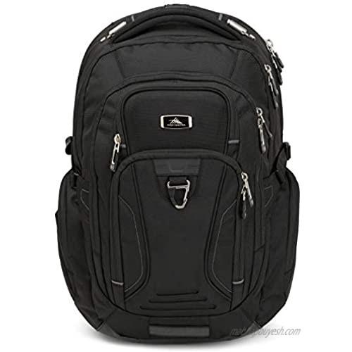 High Sierra TSA Elite Laptop Backpack  Black  One Size