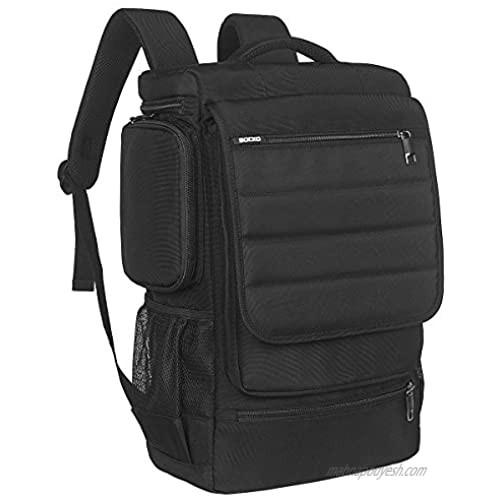 Laptop Backpack 17.3 Inch BRINCH Water Resistant Travel Backpack for Men Women Luggage Rucksack Hiking Knapsack College Shoulder Backpack Fits 17-17.3 Inch Laptop Notebook Computer  Black