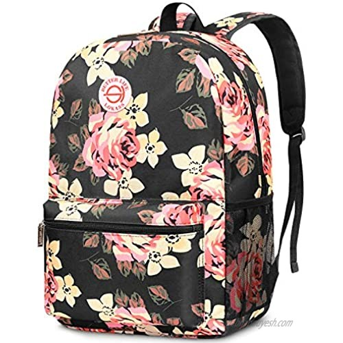 SOCKO Backpack for Women/Girls/Students Light Weight School Bag Stylish College Bookbag Cute Travel Rucksack Casual Daypack Fits up to 15.6 Inch Laptop  Peony