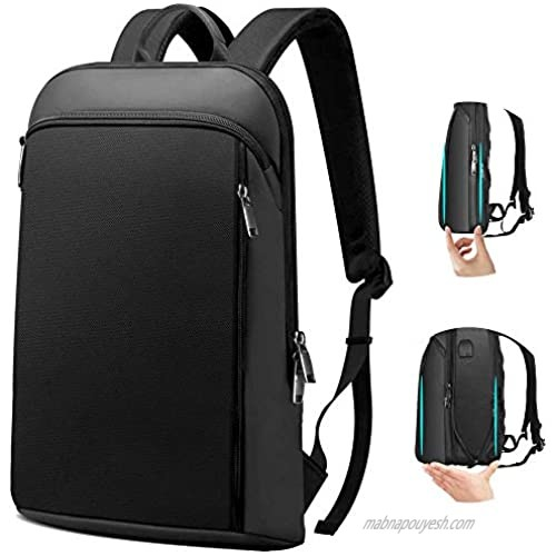 Super Slim and Expandable 15 15.6 16 Inch Laptop Backpack Anti Theft Business Travel Notebook Bag with USB  Multipurpose Large Capacity Daypack College School Book Bag for Men & Women Deep Black