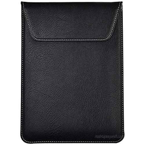 Black PU Leather Breifcase Carrying Sleeve Cover for iPad 9.7(2018) / Voyo i8 9.7 / Teclast T20 10.1 / Microsoft Surface Go 10 / Acer Chromebook Tab 10 9.7 / Lenovo Moto Tab 10.1
