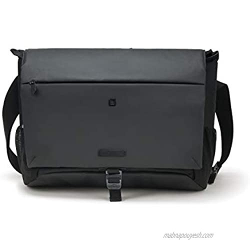 DICOTA Eco Messenger Bag Move Bag - Made from Recycled PET Bottles  13-15.6 inches  Black