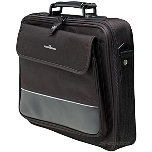 MANHATTAN Times Square Laptop Briefcase Compatible with Widescreen Up to 15.4 Inches 421430