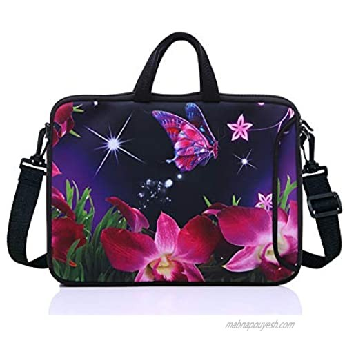 """15.6-Inch Laptop Shoulder Sleeve Bag Case With Handle For 15 15.6"""" Acer Dell Hp(pink)"""