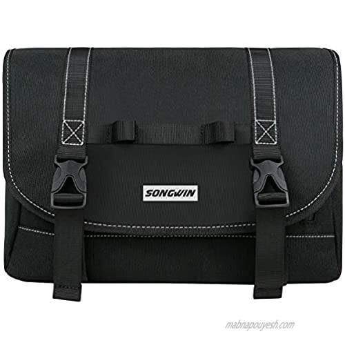 Messenger Bag for Men and Women Water Resistant Canvas Satchel 14 15.6 Inch Laptop Briefcases Business Shoulder Bookbag