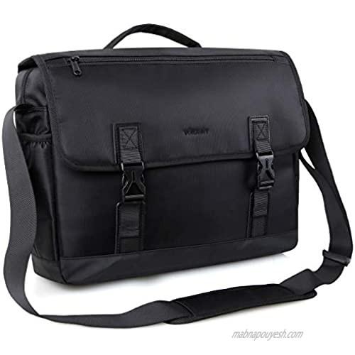 Messenger Bag For Men Water Resistant Lightweight 15in Laptop Bag Business Briefcase