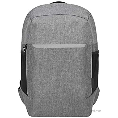 Targus CityLite Pro Modern Security Backpack for 12-Inch to 15.6-Inch Laptop  Grey (TSB938GL)